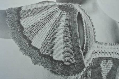 crochet sleeve detail Edgy 1970s Crochet Designers: Dina (Schwartz) Knapp