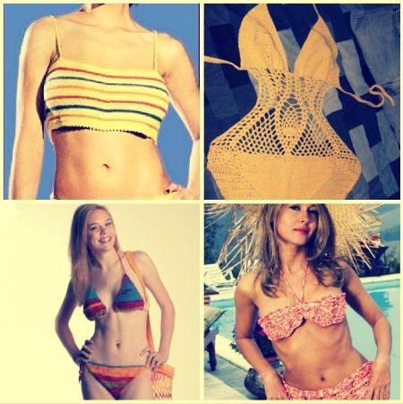 crochet swimsuit patterns Crochet Blog Roundup: July in Review