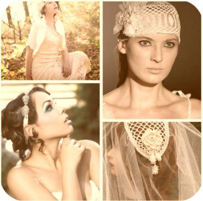 crochet wedding veils