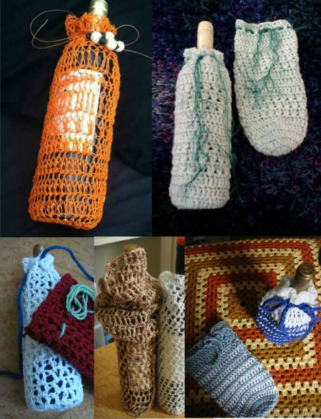 crochet wine bag cozies My Year of Projects: Last Year/ This Year