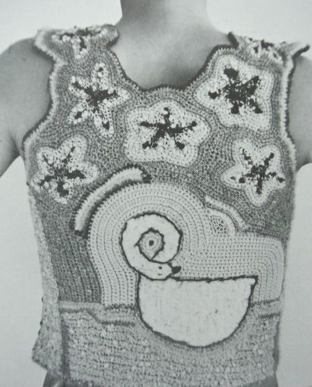 dina schwartz crochet top Edgy 1970s Crochet Designers: Dina (Schwartz) Knapp