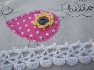 fabric crochet 400x300 20 Inspiring Ideas for Combining Crochet with Fabric