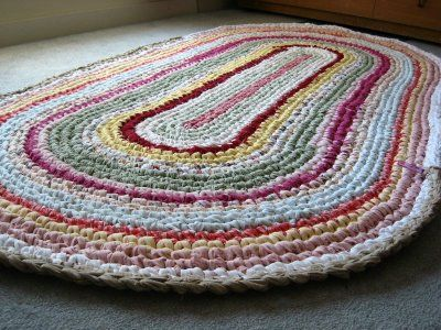 fabric crochet rug 20 Inspiring Ideas for Combining Crochet with Fabric