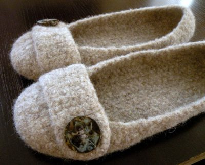 felted crochet slippers 400x323 10 Most Popular Crochet Patterns To Buy Online (+16 More People Love)