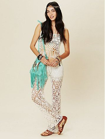free people crochet pants Crochet Pants Really Can Look Cute. These 20+ Examples Prove It!