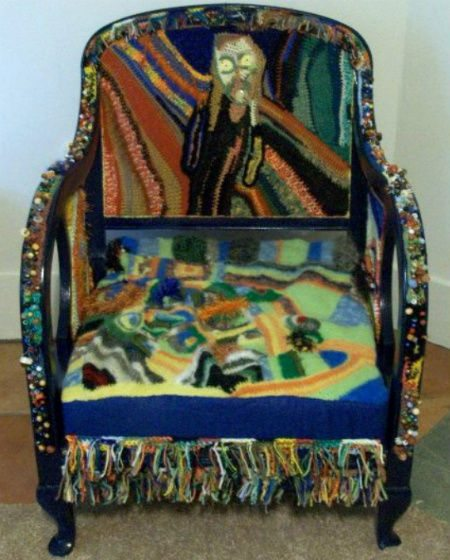 freeform art chair Astonishing Freeform Crochet Art Inspired by Music and Art