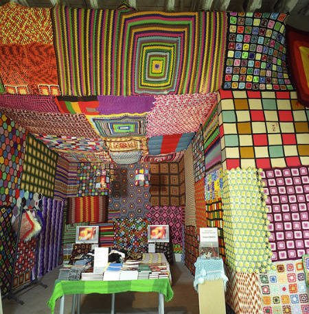 granny square art room1 Top 10 Examples of Extreme Crochet Art
