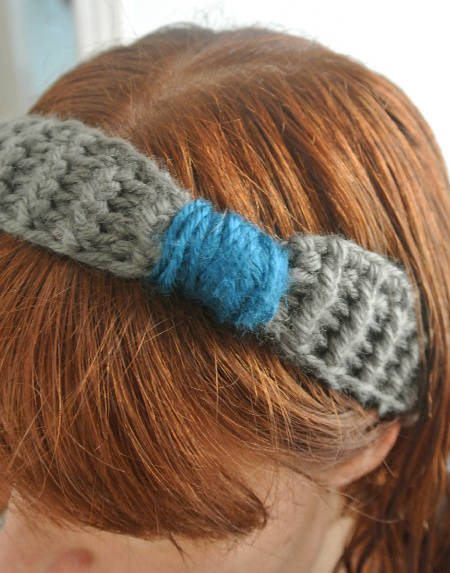 grey crochet headband Crochet Blog Roundup: July in Review