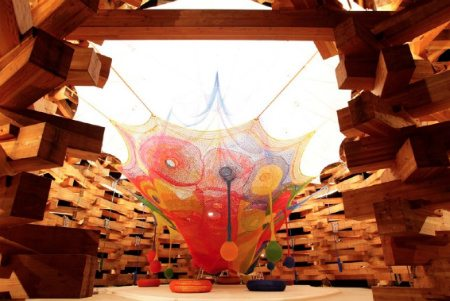hakone forest net open air museum Visual Chronology of Crochet Playgrounds by Toshiko Horiuchi Macadam