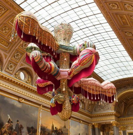joana vasconcelos art Crochet Works in Vasconcelos Versailles Exhibit
