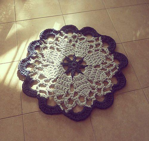 mandala crochet rug