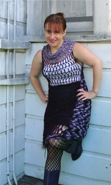 purple crochet dress Crochet Blog Roundup: July in Review