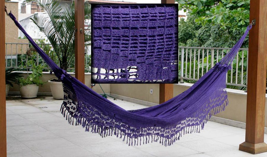 purple crochet hammock Summer Days: 12 Gorgeous Crochet Hammocks for Relaxation and Rejuvenation