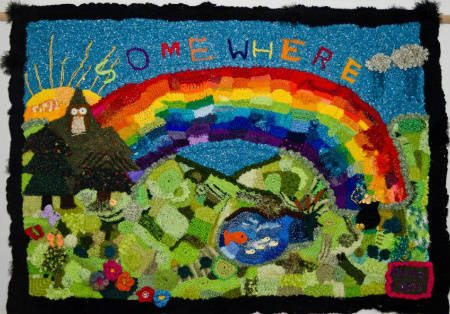 somewhere over the rainbow crochet Astonishing Freeform Crochet Art Inspired by Music and Art