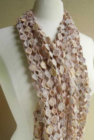 sophie digard neutral crochet scarf Sophie Digard Crochet Scarves: France, Madagascar and Fair Trade