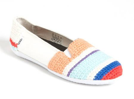 striped krochet kids vans shoe 2012 in Crochet: Crochet Fashion