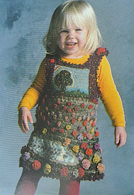 tapestry crochet dress Edgy 1970s Crochet Designers: Dina (Schwartz) Knapp