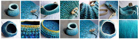 blue crochet Contemporary Sculpted Textiles of Sophie Buckley