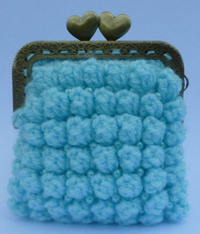 bobble crochet coin purse 400x468 15 Favorite Crochet Coin Purses to Make Saving Pennies Fun