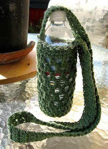 chunky crochet water bottle 10 Popular Free Crochet Patterns for Water Bottle Holders