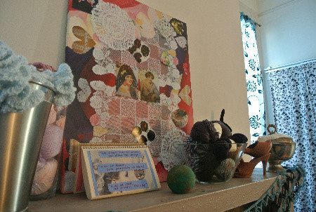 crochet art on canvas My Crochet Home: Around the Fireplace