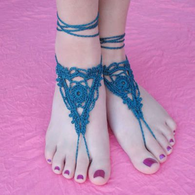 crochet barefoot sandals 400x400 Top 10 Free Crochet Patterns for Barefoot Sandals