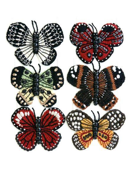 crochet butterflies Comfort Food Crochet Artist Kate Jenkins