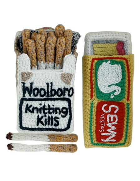 crochet cigarettes Comfort Food Crochet Artist Kate Jenkins