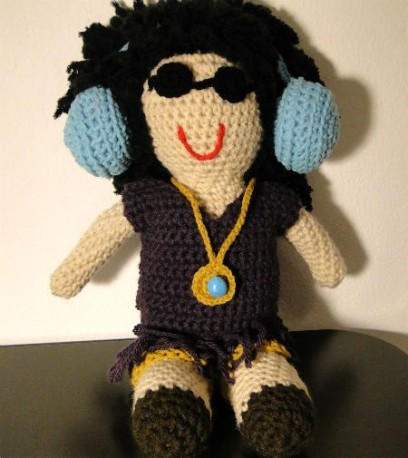 crochet dj doll 12 Fascinating Examples of Crochet Art Dolls and Figures