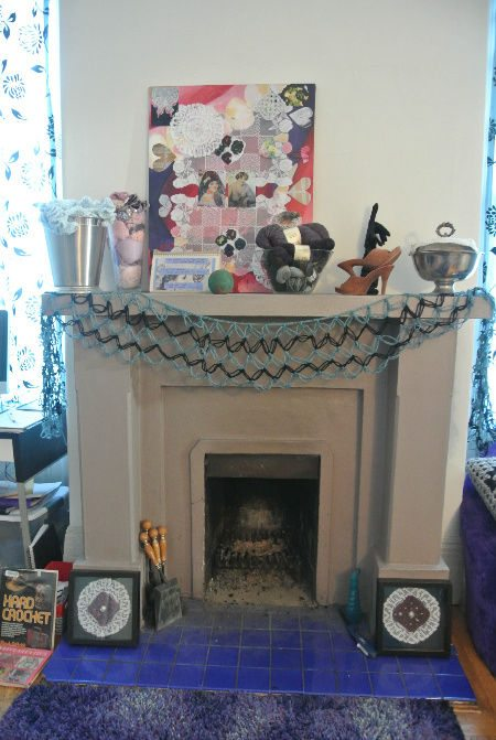 crochet fireplace Crochet Blog Roundup: August in Review
