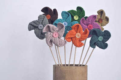 crochet pinwheels This Weeks Crochet Link Love