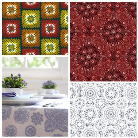 crochet printed fabric Crochet Blog Roundup: August in Review