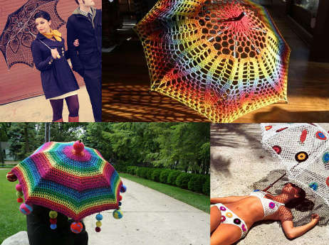 Post image for 15+ Fresh New Crochet Umbrellas for Your Rainy Days