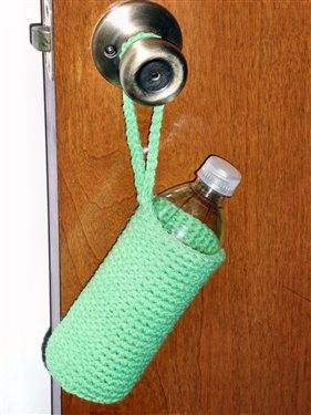 crochet water bottle cozy 10 Popular Free Crochet Patterns for Water Bottle Holders