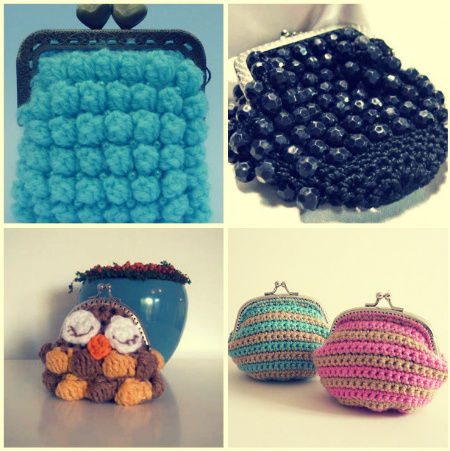 crocheted coin purses Crochet Blog Roundup: August in Review