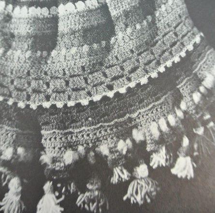 detail 1970s poncho Edgy 1970s Crochet Designer Janet Karpeck
