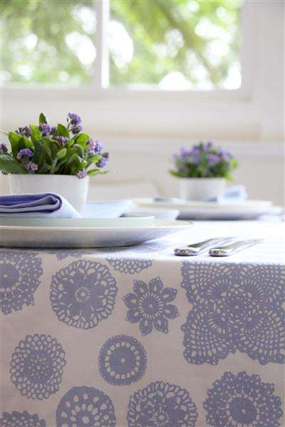 doily print fabric blue Fabrics Designed with Crochet Lovers in Mind