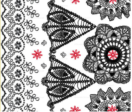 embroidery crochet fabric Fabrics Designed with Crochet Lovers in Mind