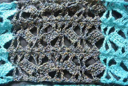 floating blocks crochet pattern Diary of a Month Spent Crocheting Sharon Silverman Scarves