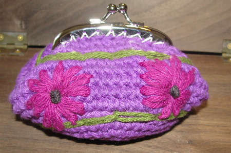 flower crochet coin purse 15 Favorite Crochet Coin Purses to Make Saving Pennies Fun