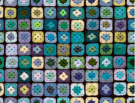 granny square fabric1 Fabrics Designed with Crochet Lovers in Mind