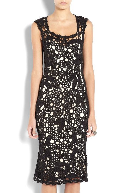 marc jacobs crochet pencil dress Designer Crochet: Marc Jacobs