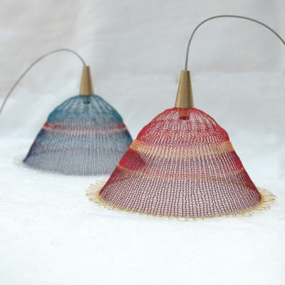 metal crochet lampshade 400x400 16 Crochet Lamps That Will Shed a New Light on Your Space