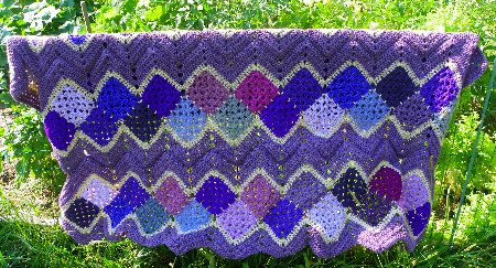 purple crochet afghan Alzheimers, Crochet and a Fun Raffle Fundraiser