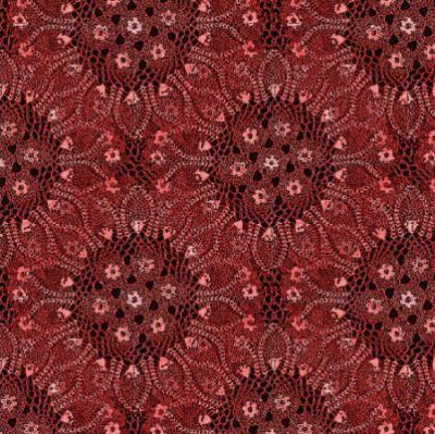 red doily fabric 400x399 Then and Now in Crochet (11/11   11/17)