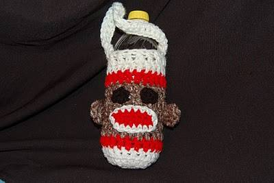 sock monkey crochet 10 Popular Free Crochet Patterns for Water Bottle Holders