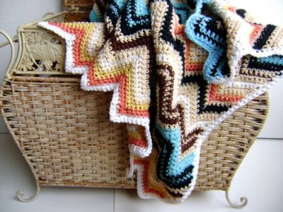 Missoni inspired crochet blanket pattern 400x300 Designer Crochet: Missoni