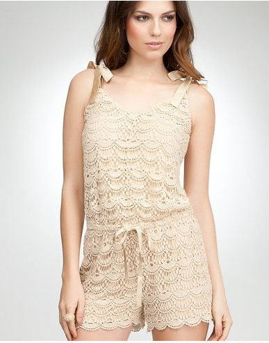 bebe crochet romper 11 Cutest Ever Crochet Rompers for Women