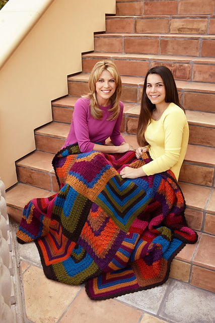 crochet diamond blanket 10 Fabulous Free Crochet Patterns That Require 4000+ Yards of Yarn