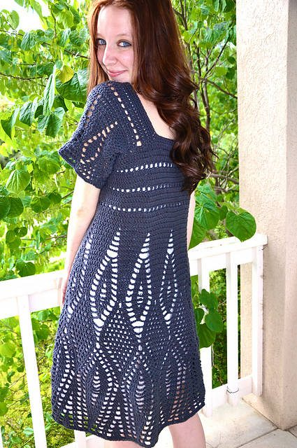 crochet dress1 15 Beautiful Crochet Dress Patterns to Buy Online